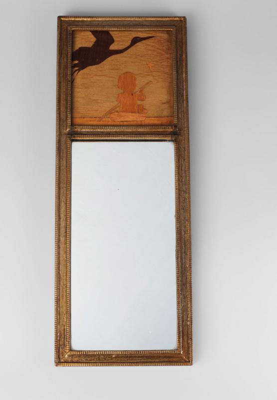 A rowley gallery marquetry panel wall mirror 39 the for Mirror 80 x 50