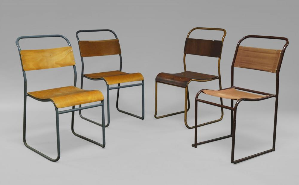 Lot 58 Of 196: Bruno Pollak For Pel Ltd, A Model RP6 Chair, Designed  1931 1932 Together With Three Cox For Pel Stacking Chairs C.1930s, Three  Chairs Stamped ...