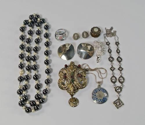 Lot 256 of 1150 A collection of silver and costume Jewellery Silver Watches u0026 Objects of Vertu to include a silver and crystal set necklace ... & A collection of silver and costume Jewellery Silver Watches ...