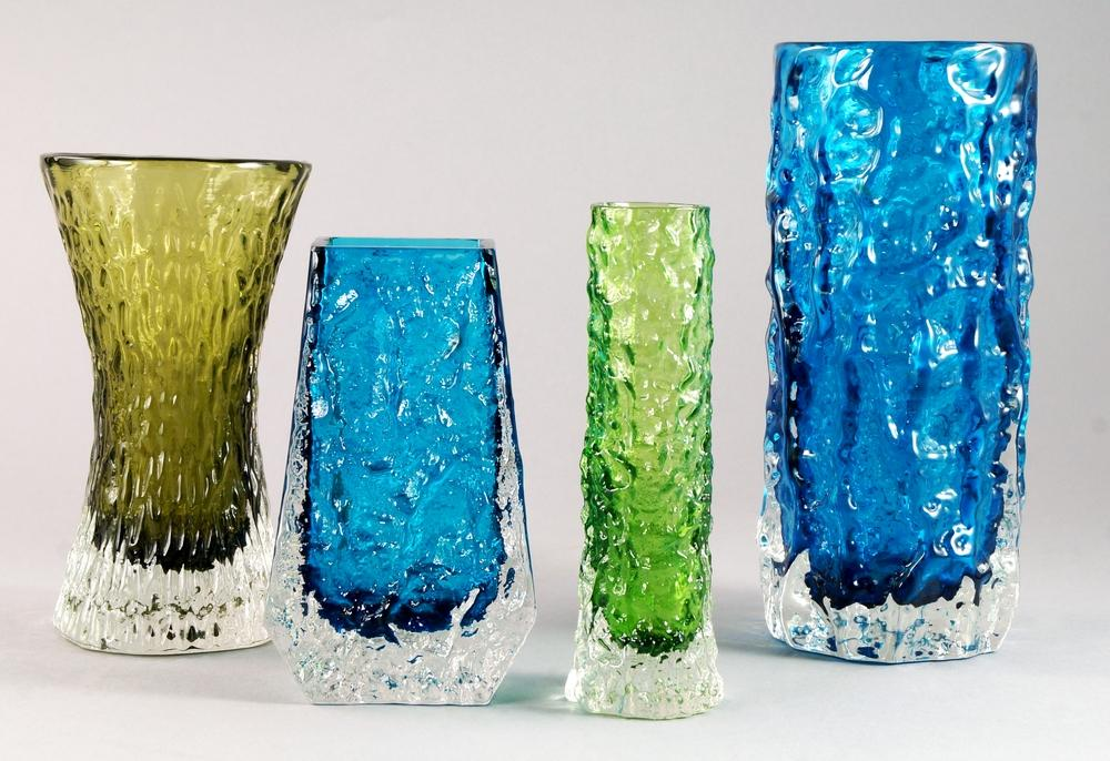 A Collection Of Whitefriars Glass Vases After Designs By Geoffrey