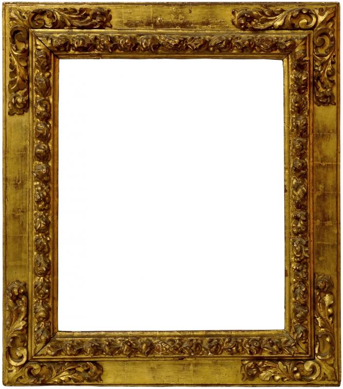 A Spanish Carved and Gilded Frame, 17th century, with cavetto sight ...