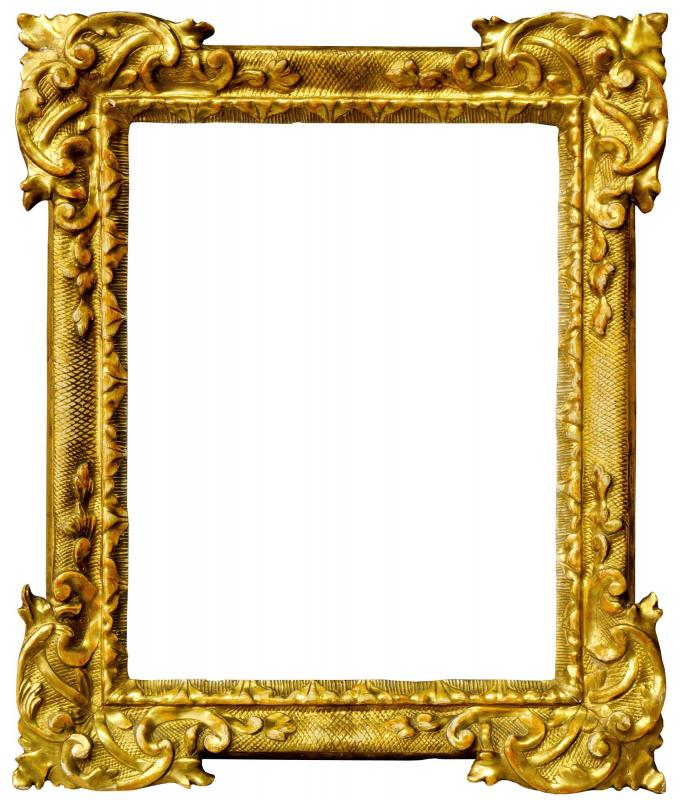 A Italian Carved and Gilded Frame, 18th century, with leaf sight ...