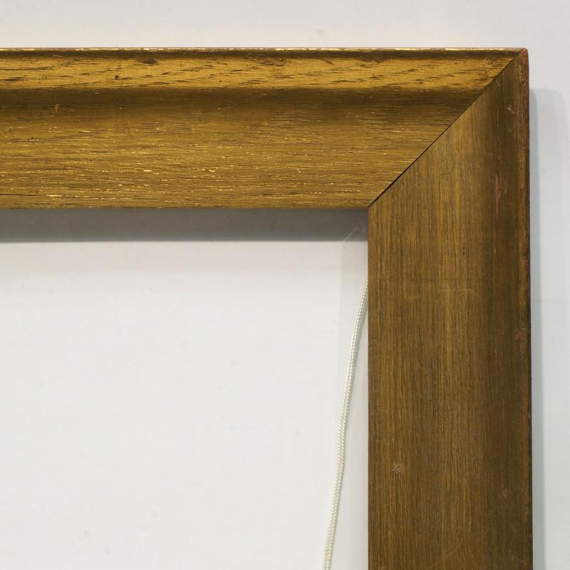 A Glazed Gilded Oak Moulding Frame, early 20th century, of flattened ...